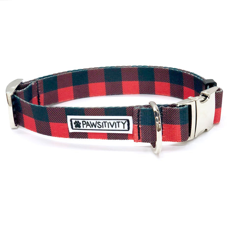 Pawsitivity Buffalo Plaid Plaid Bow Tie