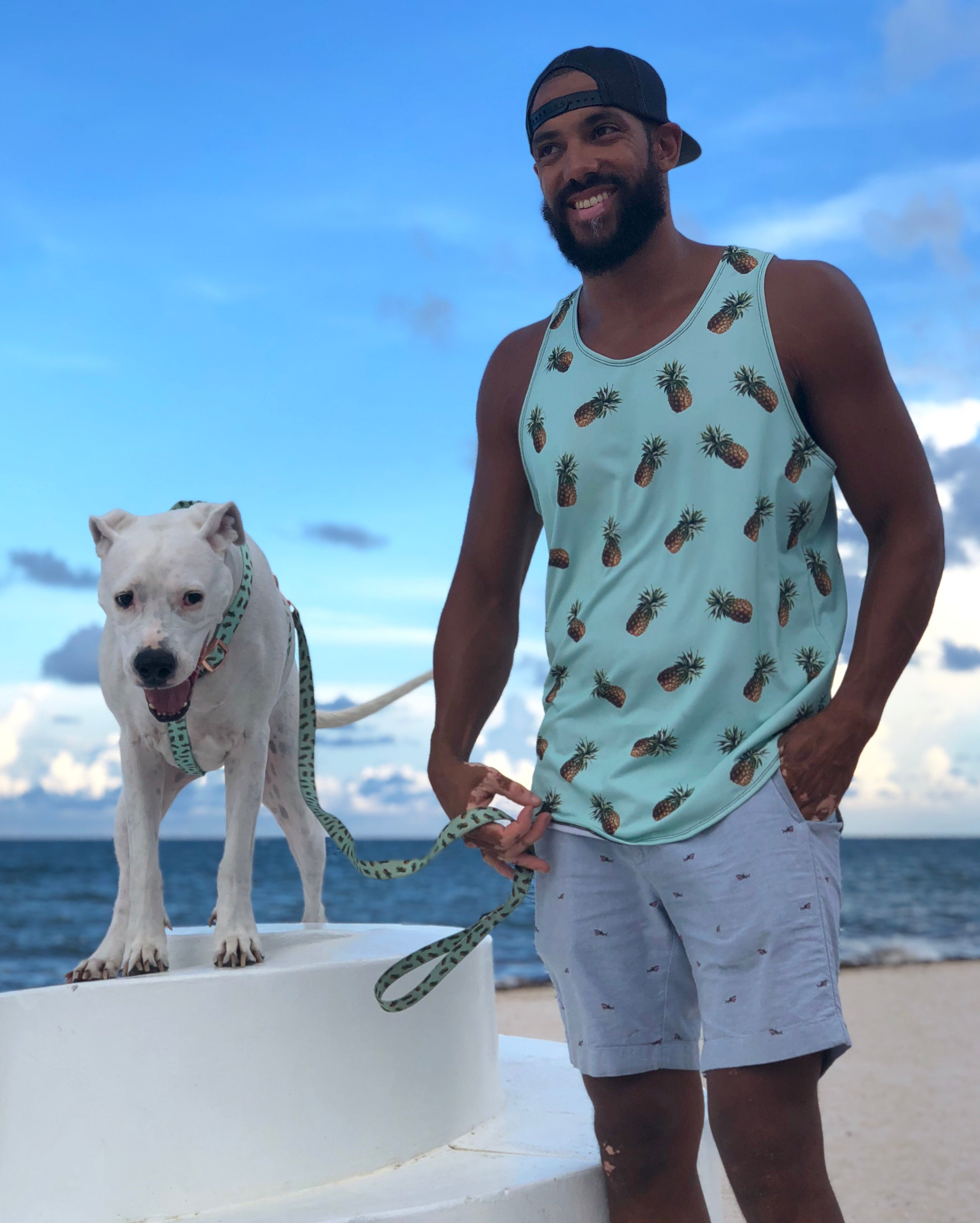 Men's Mint Pineapples Tank