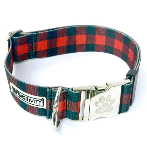 "Buffalo Plaid 1.5"" Statement Collar"