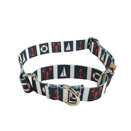 Navy Nautical Martingale Collar