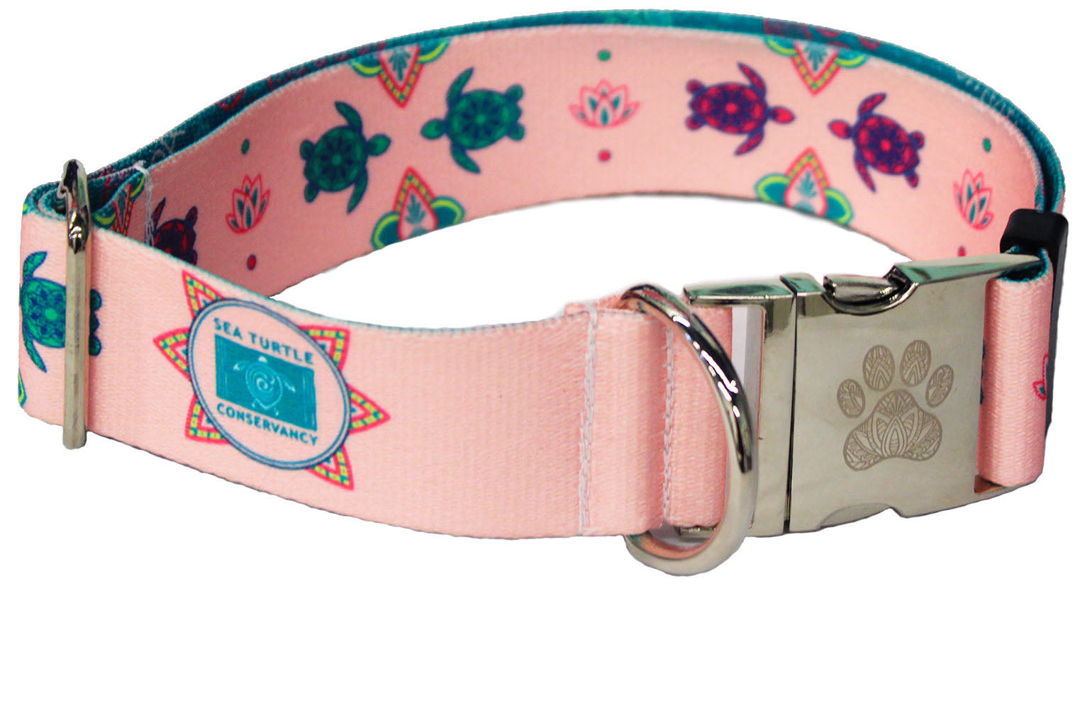 Sea Turtle Conservancy Pink Lotus Turtle Statement Collar