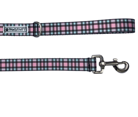 Pink Gingham Leash