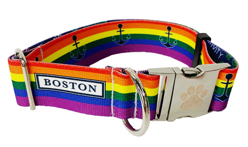 "Rainbow Boston Pride 1.5"" Statement Collar"