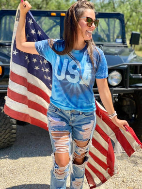 USA Tie Dye Boutique Tee