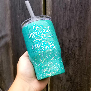 Mermaid Glitter Tumbler