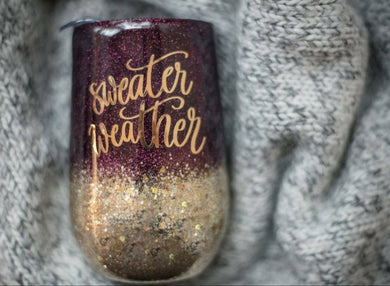 Sweater weather Glitter Tumbler