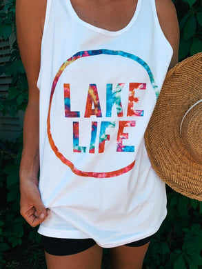 Lake Life Tie Dye Boutique Tank Top