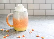 Candy Corn Halloween Fall Glitter Tumbler