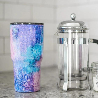 Watercolor Glitter Tumbler
