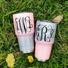 Glitter Tumbler - Ombre Tumbler - Coffee Lover - Monogram Cup - monogrammed cup - personalized Tumbler - Coffee tumbler - Glitter Yeti