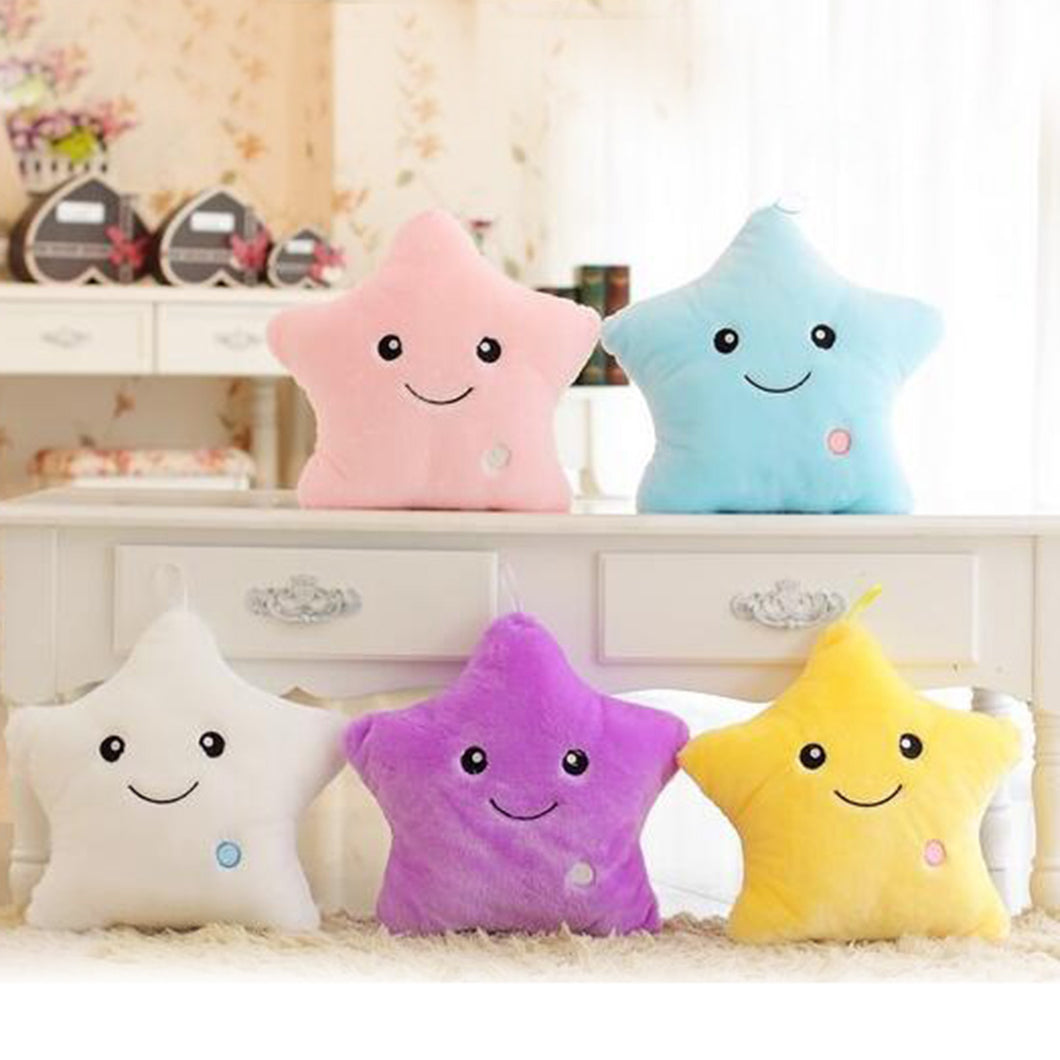 Colorful Body Pillow Star Glow LED Luminous Light Pillow Cushion Soft Relax Gift