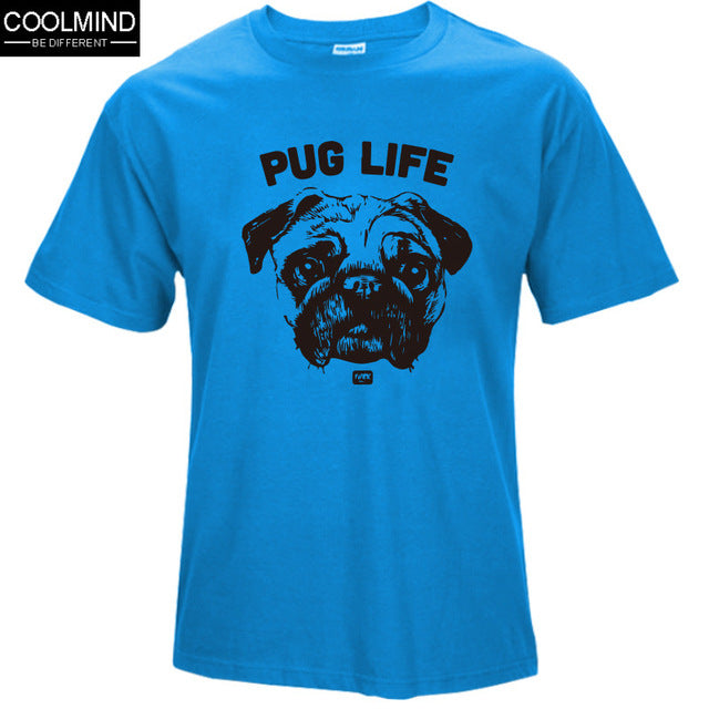 casual pug life mens t shirts