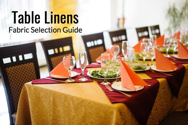 Table Linen Fabric Selection Guide for Different Restaurant Types