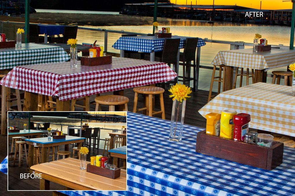 Decorating Restaurants with Vinyl Tablecloths - Trends in Colors