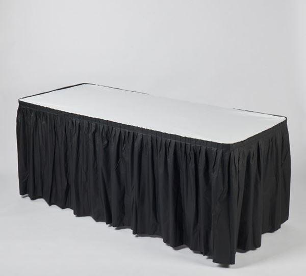 Black Plastic Fitted Table Skirt