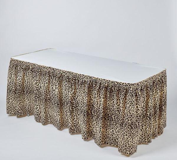 Leopard Print Disposable Kwik-Skirt Table Skirt