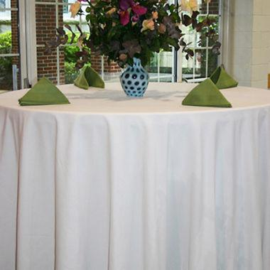 White Premier Spun Poly Tablecloth 1 Dz.