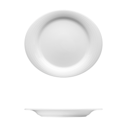 Duo Bright White Porcelain Corby Hall Dinnerware Collection