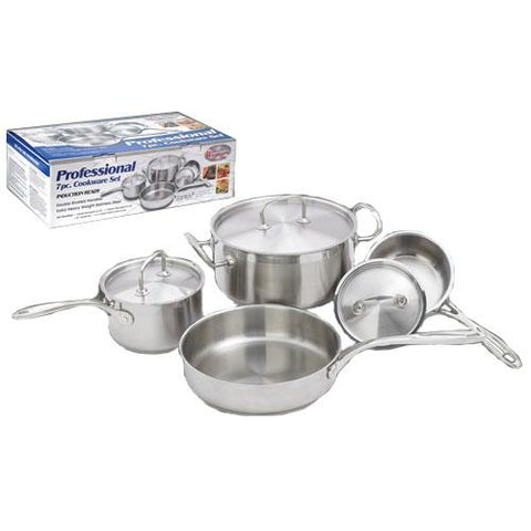 Winco SPC-7H Deluxe 7 Piece Commercial Grade Stainless Steel Cookware Set