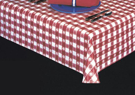 Heavyweight Check Print Laminated Vinyl Tablecloth, S1226