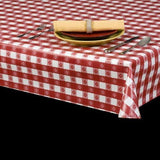 Heavy Duty Tavern Check Vinyl Tablecloth w/ Flannel Backing, S9802