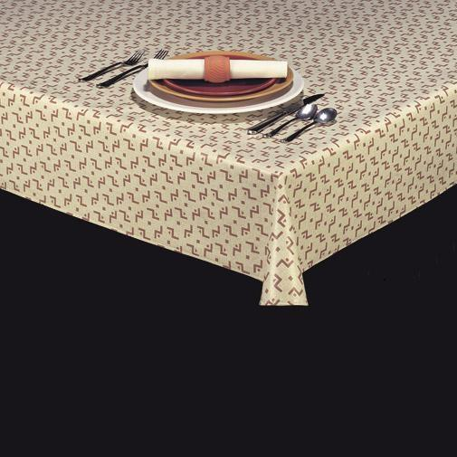 Heavyweight Linen Look Vinyl Tablecloth w/ Flannel Backing, S9804