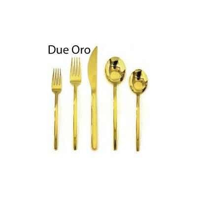 Mepra Due Oro Gold Finish 5-Piece Place Setting
