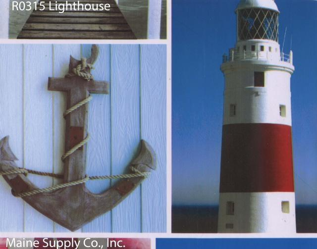 Durable Vinyl Roll, Lighthouse Design, 15 Yards, R0315