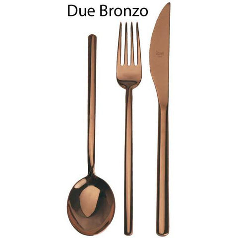 Mepra Due Bronzo, Bronze Finish 5-Piece Place Setting