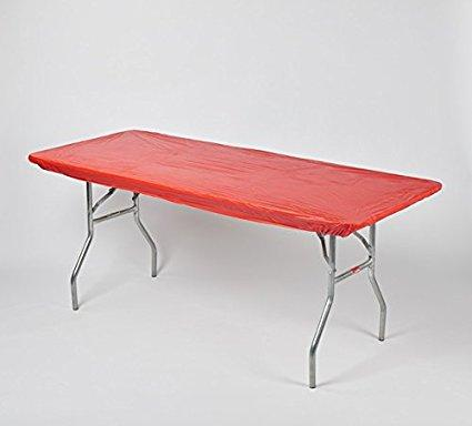 Solid Color Kwik-Covers Rectangular Plastic Table Covers