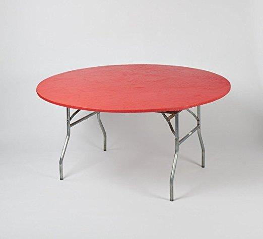 Solid Colored Kwik-Covers Plastic Fitted Round Table Covers