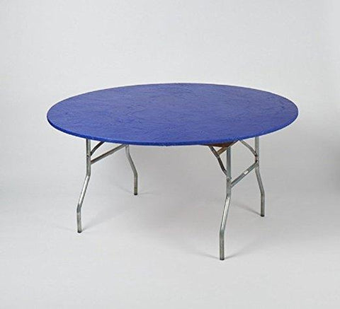 Solid Color Fitted Kwik-Covers Colorful Plastic Round Table Covers
