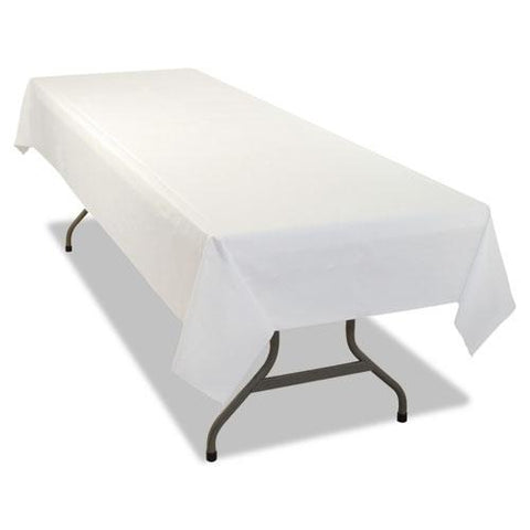 White Biodegrable Plastic Banquet Table Covers 2 Dz.