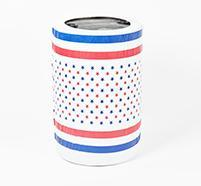 Patriotic Print Fitted Plastic Can Covers 55 Gal.