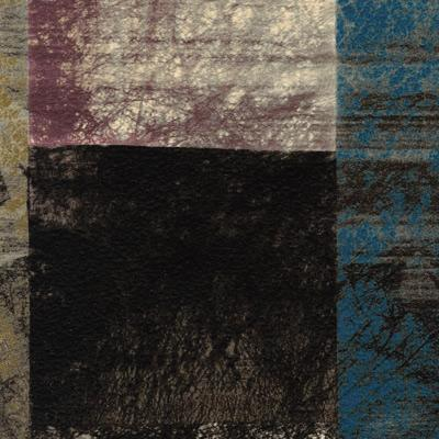 Sample of Premium Vinyl w/ Flannel Backing, Abstract Plaid Design, S6103