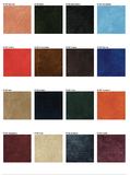 Sample of Premium Vinyl w/ Flannel Backing, Luxurious Leather Look Series, 15 Colors, S6108