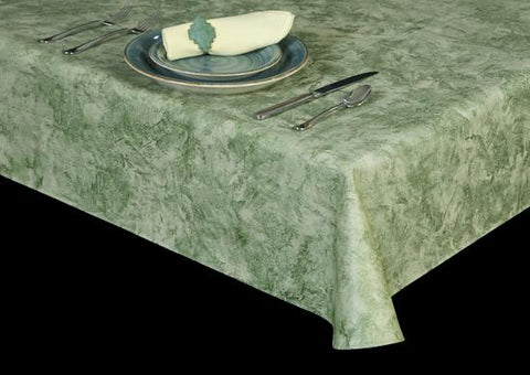 Premium Vinyl Tablecloth w/ Flannel Backing, Venetian Faux Finish Series, 18 Colors, S6114