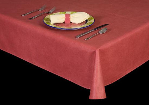 Premium Vinyl Tablecloth w/ Flannel Backing, Sophisticated Suede Series, 22 Colors, S6116