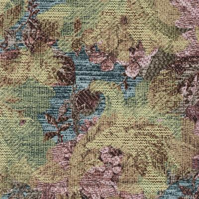 Sample of Premium Vinyl w/ Flannel Backing, Needlepoint Floral Bouquet Series, 6 Colors, S6121