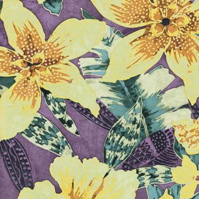 Heavy Duty Exotic Tropical Fusion Vinyl Tablecloth Roll w/ Flannel Backing, S6122