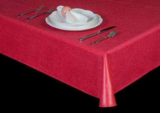 Premium Vinyl Tablecloth w/ Flannel Backing, Handwoven Look, S6123