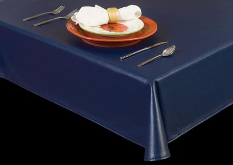 Premium Vinyl Tablecloth w/ Flannel Backing, Not-So-Faux Leather Series, 16 Colors, S6126