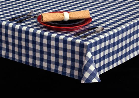 Heavyweight Classic Check Vinyl Tablecloth Roll w/ Flannel Back, S7103