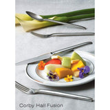 Fusion Premium European Stainless Steel 20-Piece Flatware Set for 4, Corby Hall