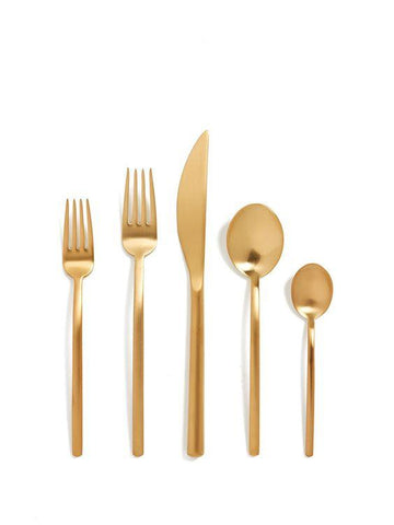 Due Oro Gold Finish 40-Piece Place Setting for 8, Mepra