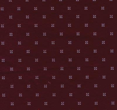 Sample of Durable Vinyl w/ Flannel Backing, Starburst Fleur-de-Lis Design, 5 Colors, S9801