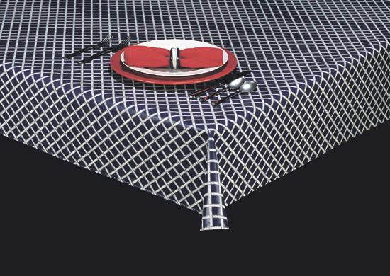 Durable Vinyl Tablecloth w/ Flannel Backing, Lattice Series, 3 Colors, S9810