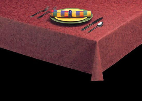 Durable Vinyl Tablecloth w/ Flannel Backing, Faux Finish Series, 7 Colors, S9817