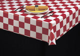 Durable Vinyl Tablecloth w/ Flannel Backing, Chuckwagon Check, 5 Colors, S9819