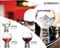 Alternato Short Stem Bubble Base Red Wine Glasses  - 24 Pack